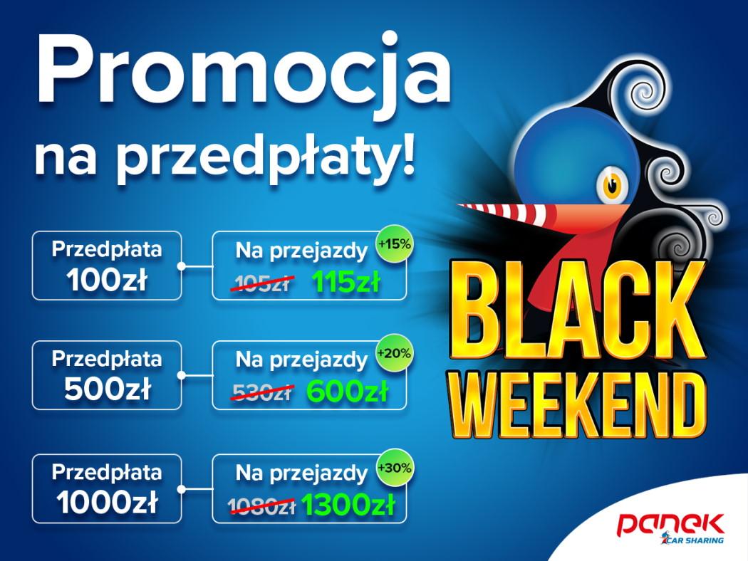 Promocja na przedpłaty Black Weekend - PANEK CarSharung